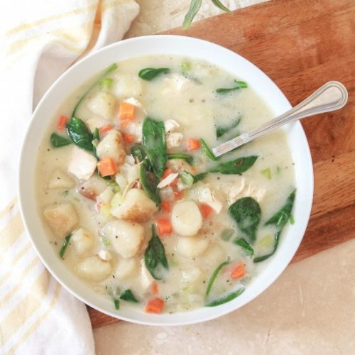 Paleo Cauliflower Gnocchi Soup