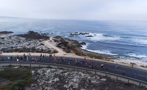 Watch: Aerial views of the Monterey Bay Half Marathon