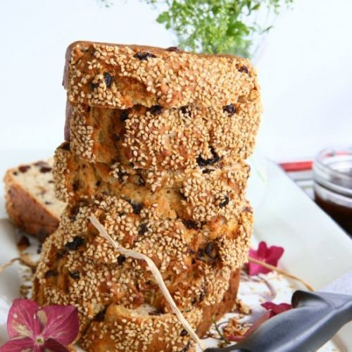Mascarpone Raisin Loaf with Sesame