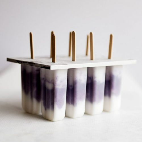 Blueberry and Coconut Popsicles