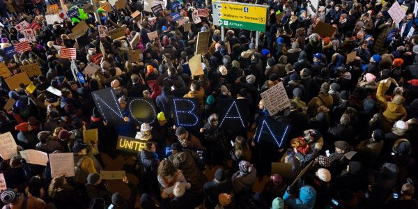 The DHS is being accused by its own watchdog of suppressing a report on Trump's chaotic first travel ban