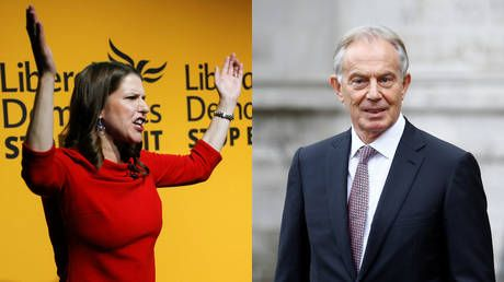 'Tony Blair can f**k off & die': Lib Dems party like it's 2003 with controversial singalong