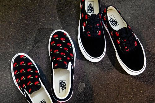Vans Embellishes Authentic & Slip-On With Cherry Embroidery