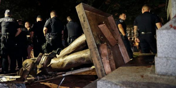 Last remnants of controversial UNC Confederate statue removed following resignation of school's chancellor