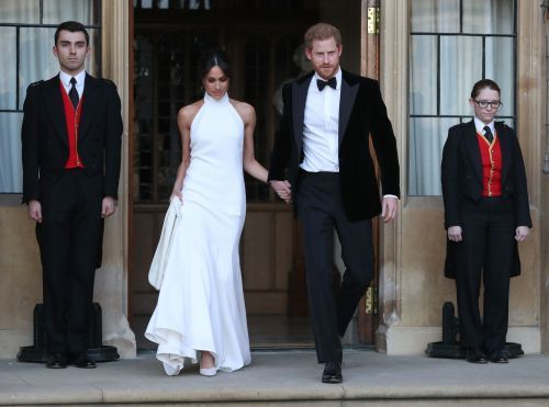 Duchess Meghan steps out for second reception in stunning dress by Stella McCartney