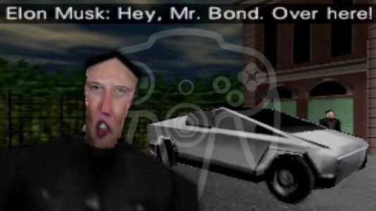 Someone Hacked The Tesla Cybertruck And Elon Musk Into N64's Golden Eye And It's Perfect, Just Perfect