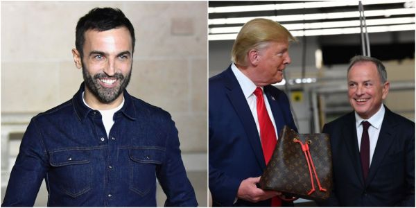 Louis Vuitton's artistic director calls Trump a 'joke' and pushes back against the brand's association with the president