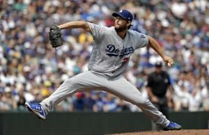 Kershaw wins 150th, Turner 5 RBIs, Dodgers beat Seattle 12-1