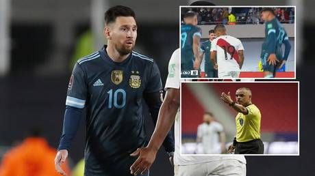 'Synchronized sh*thousery should be Olympic sport': Argentina stars mock Peru penalty miss in unison as Messi rips referee