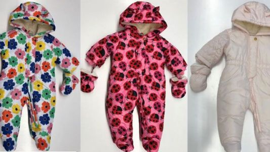 Thousands of infant snowsuits recalled due to choking hazard