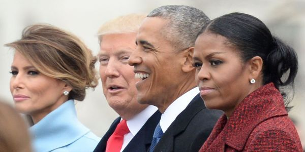Michelle Obama said she 'stopped even trying to smile' at Trump's inauguration