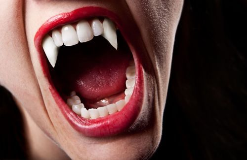 'They wouldn't budge': Woman gets a scare when fake Halloween fangs stay glued to her teeth