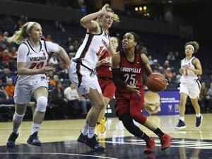 Evans, Durr lead No. 4 Louisville past Virginia, 71-49
