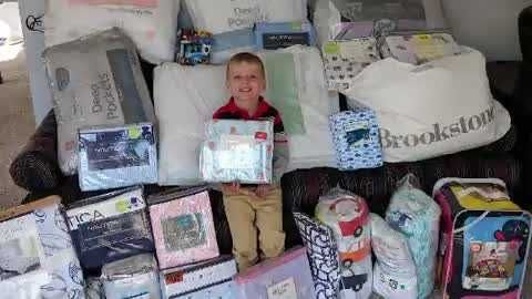 A 5-year-old boy asked for bedding on his birthday and donated it to kids in need