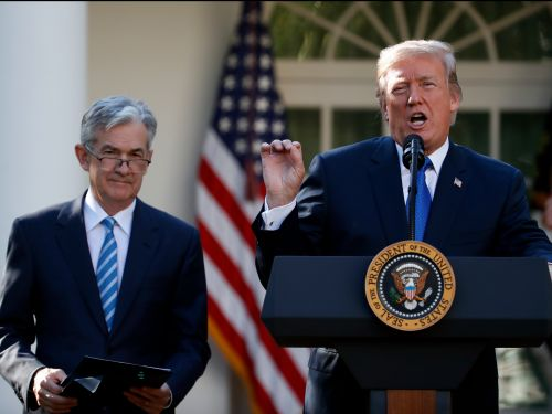 President Trump says he never threatened to demote Fed chairman months after White House team researched whether it's legal