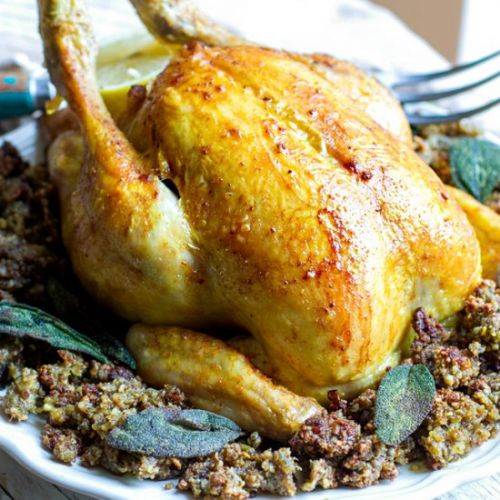 Roast Chicken & Inside Out Stuffing
