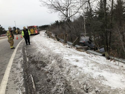 I-93 on-ramp in Manchester shut down after crash