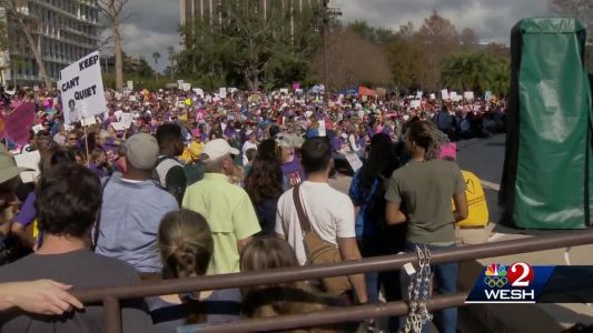Thousands seek to empower during Orlando Women's March