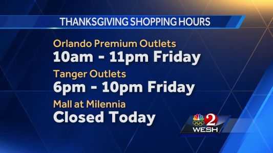 Thanksgiving shopping hours for Central Florida