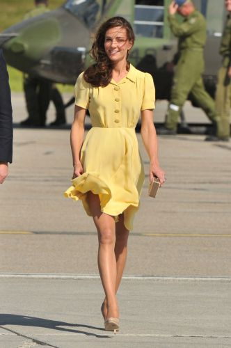 The Smart Way Meghan Markle & Kate Middleton Keep Their Skirts from Flying Up