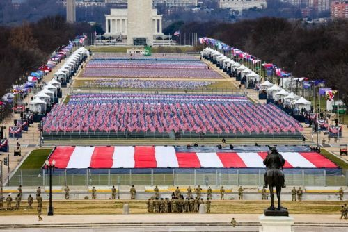 'Field of Flags' Installation Replaces Attendees at U.S. Presidential Inauguration
