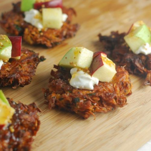 Sweet Potato Cakes & Apple Relish