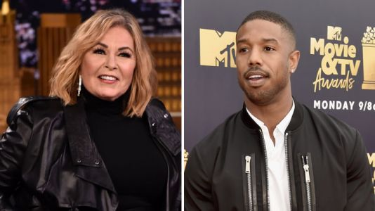 Michael B. Jordan Takes a Savage Dig at Roseanne Barr After Winning Best Villain at the MTV Movie and TV Awards