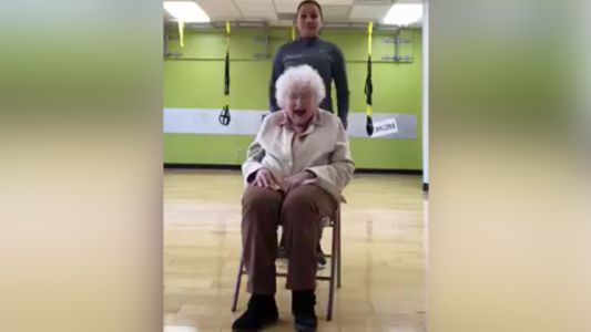 Watch: 93-year-old woman's happy workout video goes viral