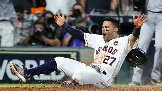 No, Jose Altuve wasn't scowling at Donald Trump