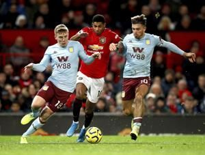 Man United frustrated again in 2-2 draw with Aston Villa
