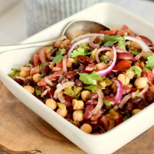 Spicy Mexican Style 3-Bean Salad