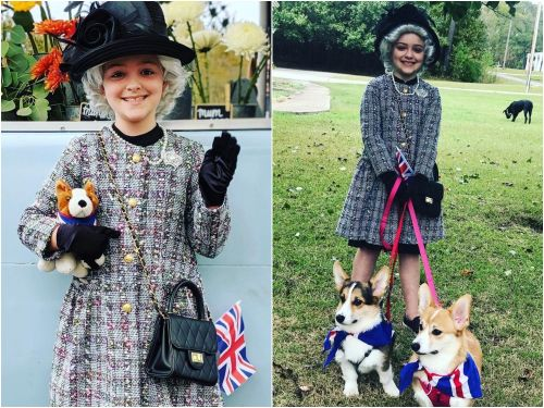 This 8-year-old royal fan recreates the Queen's most iconic outfits, and even named one of her pet corgis Elizabeth
