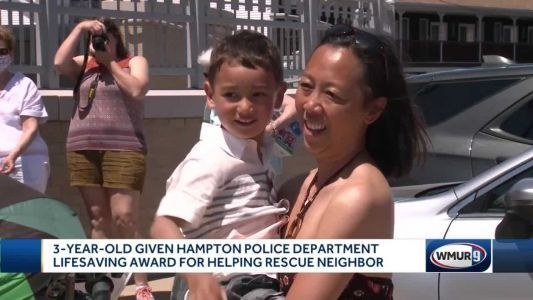 3-year-old honored for saving neighbor's life