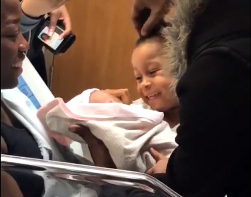 Watch viral video of big brother's adorable reaction seeing new baby sister for first time
