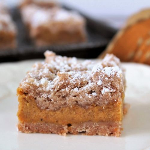 Gluten & Egg Free Pumpkin Crumb Bar
