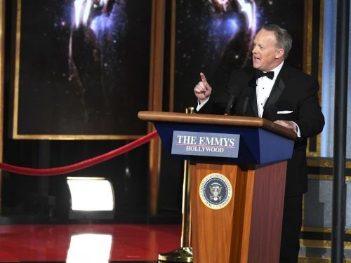 How Stephen Colbert pulled off the Sean Spicer reveal at the Emmys, the night's most polarizing moment