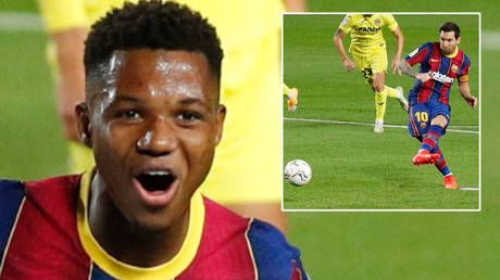 'A generational talent': Messi scores but Fati shades him with two stunning goals as Barcelona run riot against Villarreal