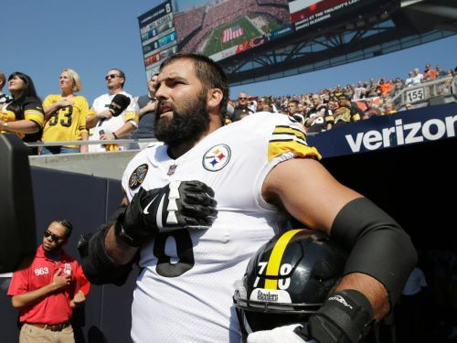 A Steelers lineman and Army vet has become a face for those who say players should not protest the anthem