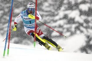 In-form Schwarz leads Kristoffersen, Hirscher in WCup slalom