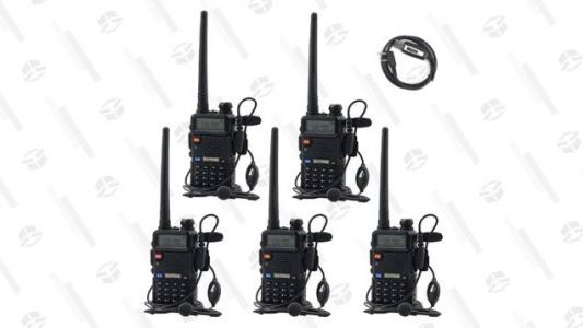 Get Five Two-Way Radios for $95 Before the Zombie Outbreak Hits