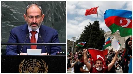 Armenian PM warns 'aggressive' Turkey to stay out of Nagorno-Karabakh conflict, says hostilities could spill over regional borders
