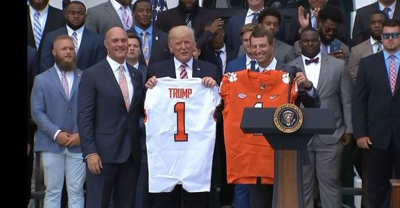National champion Clemson Tigers visit White House today