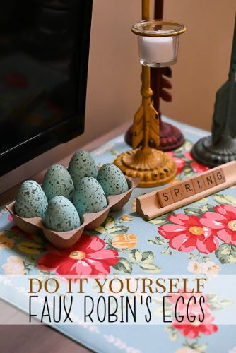 Do It Yourself Faux Robin's Eggs