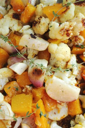 Roasted Vegetables and Orange-Thyme Vinaigrette