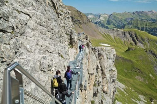 Daily Dose of Europe: Dangling from a Swiss Cliff