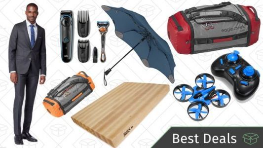 Tuesday's Best Deals: Storm-Proof Umbrellas, Cutting Board, Custom-Tailored Suits, and More