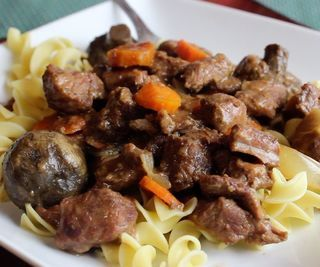 Beef Burgundy With Noodles