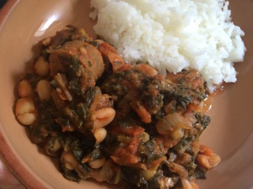 Sausage white bean stew