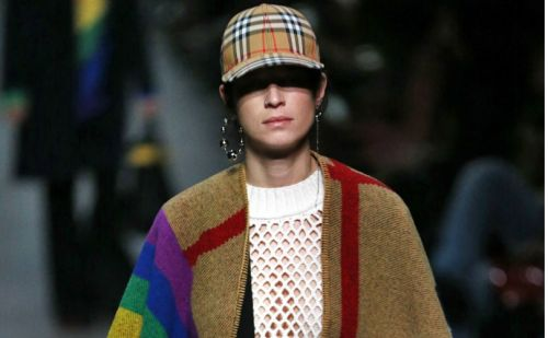 Rainbows and retro pieces: Bailey bows out at Burberry