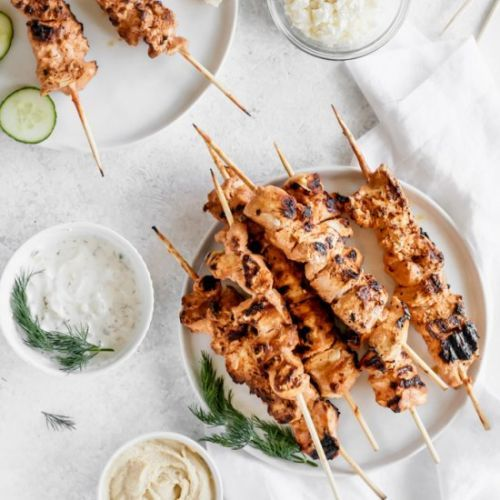 Smoky Yogurt Chicken Kebabs